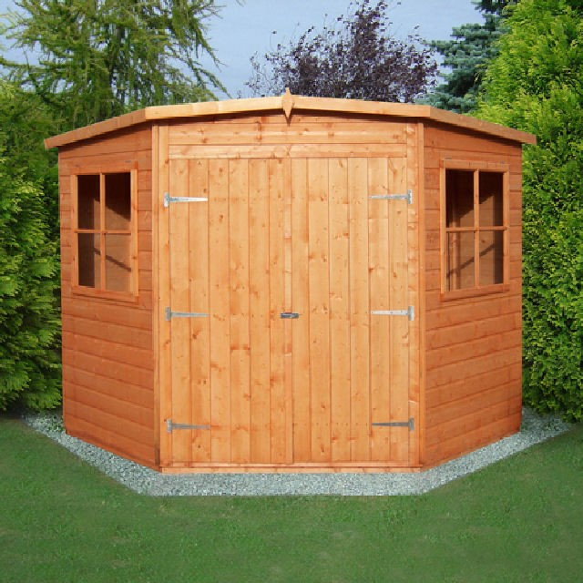 Shire corner shed 8 x 8 x elbec garden for Garden shed 2 x 2
