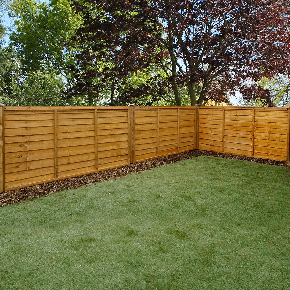 Mercia 3ft High 915mm Mercia Waney Edge Lap Fence