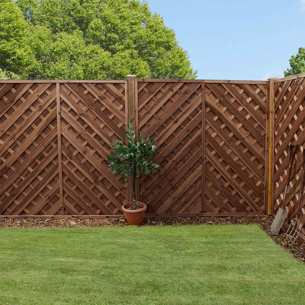 6ft High (1800mm) Mercia Louth Pressure Treated Fence Panels