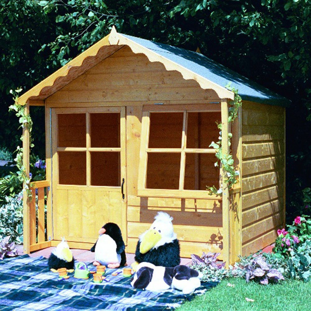 Shire Kitty Playhouse 5 X 5 1 49m X 1 50m Elbec Garden