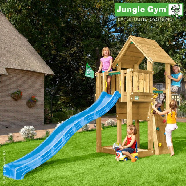 jungle gym cubby climbing frame elbec garden buildings. Black Bedroom Furniture Sets. Home Design Ideas
