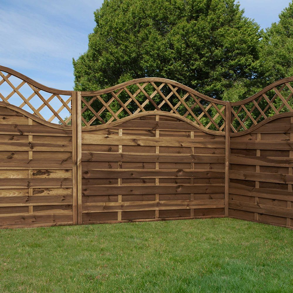 Mercia Lincoln 6ft High Horizontal Weave Domed Fence