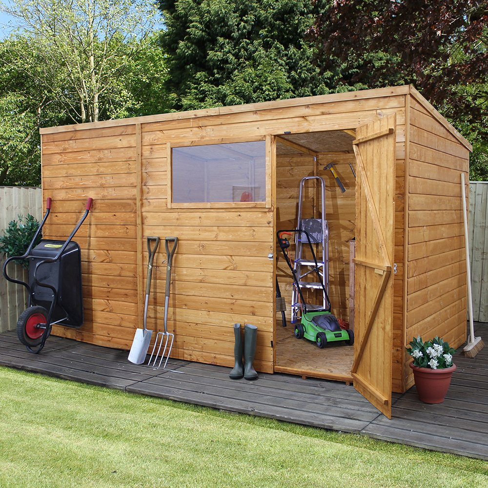 Mercia Shiplap Pent Shed With Single Door 8 X 10 2 40m X