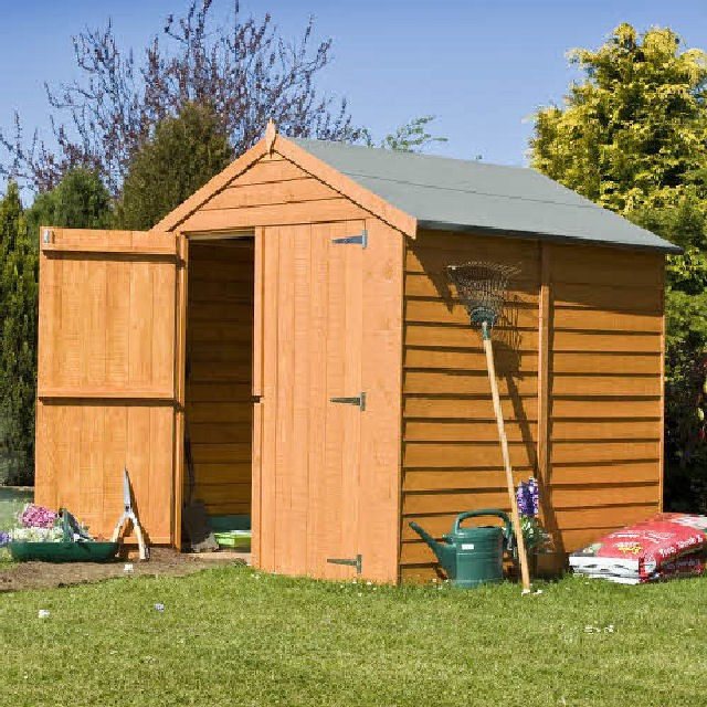 Superieur 6 X 6 (1.76m X 1.82m) Shire Overlap Windowless Shed With Double Doors