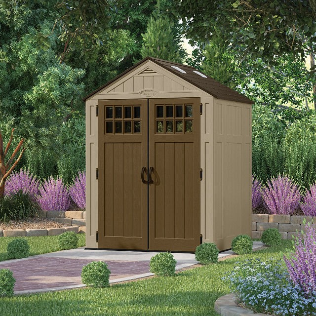 Suncast Everett Plastic Shed 6ft Wide Elbec Garden Buildings