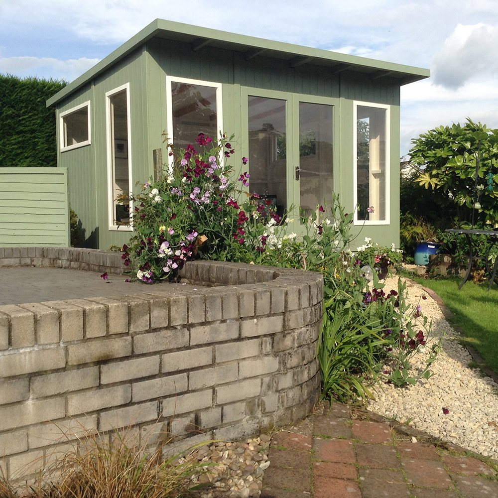 Shire the miami summerhouse 12 x 10 x for Garden shed 12x10