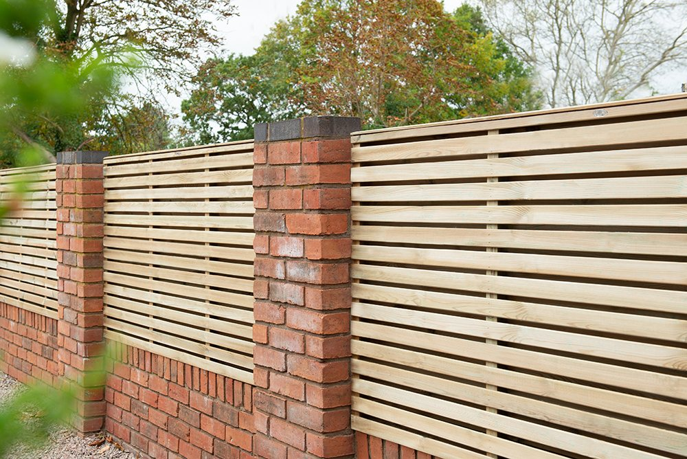 3ft High x 6ft Wide Forest Double-Sided Slatted Fence