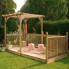 16 x 8 (4.88m x 2.44m) Ultima Deck Kit including Pergola