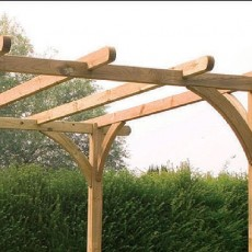 Forest 8 x 8 (2.49m x 2.46m) Ultima Deck Kit including Pergola