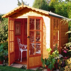 7 x 7 (1.98m x 2.05m) Shire Buckingham Summerhouse