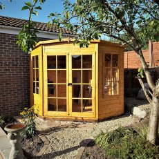 Shire 7 x 7 (2.05m x 2.05m) Shire Hampton Corner Summerhouse
