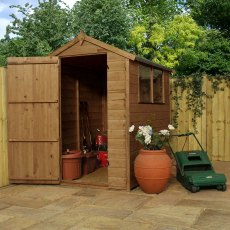 6 x 4 (1.78m x 1.31m) Mercia Shiplap Shed - Pressure Treated