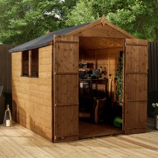 8 x 6 (2.41m x 1.90m) Mercia Shiplap Shed with Double Doors - Pressure Treated