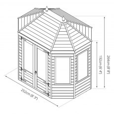 Mercia 8 x 6 (2.30m x 1.90m) Mercia Traditional Octagonal Summerhouse