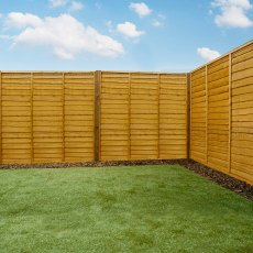 6ft High (1829mm) Mercia Waney Edge (Lap) Fence Panels