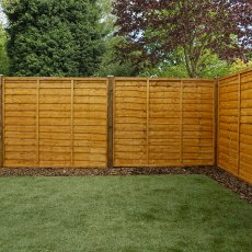 5ft High (1524mm) Mercia Waney Edge (Lap) Fence Panels