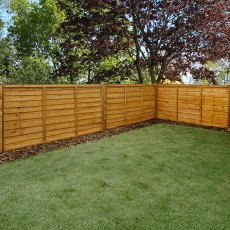 3ft High (915mm) Mercia Waney Edge (Lap) Fence Panels