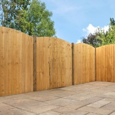 6ft High (1829mm) Mercia Vertical Feather Edge Domed Fence Panels