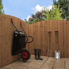 5ft High (1524mm) Mercia Vertical Feather Edge Domed Fence Panels - Pressure Treated