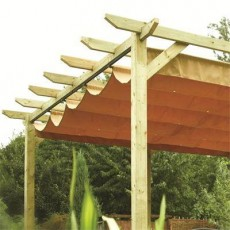 Rowlinson Garden Products 13 x 12 (3.90m x 3.62m) Verona Pergola with Canopy