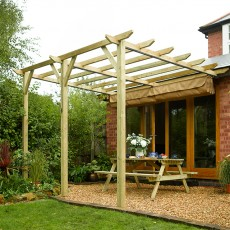 Rowlinson Garden Products 13 x 11 (3.90m x 3.33m) Sienna Pergola with Canopy