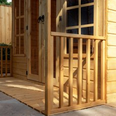 8 x 8 Mercia Premium Traditional T&G Summerhouse with Veranda - close up of veranda