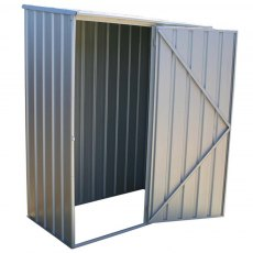 5 x 3 (1.52m x 0.78m) Mercia Absco Space Saver Metal Shed in Titanium