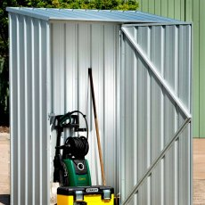 5 x 3 Mercia Absco Space Saver Pent Metal Shed in Titanium - with contents