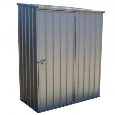 5 x 3 Mercia Absco Space Saver Pent Metal Shed in Titanium - isolated 3/4 view