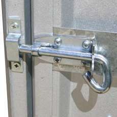 5 x 3 Mercia Absco Space Saver Pent Metal Shed in Titanium - detail of pad bolt