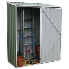 5 x 3 (1.52m x 0.78m) Mercia Space Saver Metal Shed (Eucalyptus)