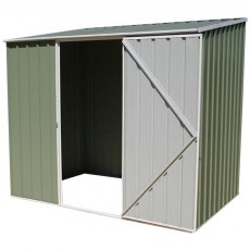 7 x 5 (2.26m x 1.52m) Mercia Space Saver Metal Shed (Eucalyptus)