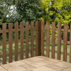 3ft High (915mm) Mercia Palisade Flat Top Fence Panels