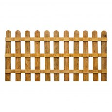 Mercia 3ft High (915mm) Mercia Palisade Round Top Fence Panels