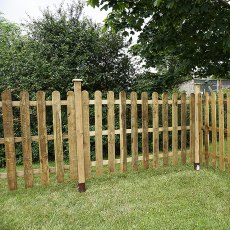 4ft High (1220mm) Mercia Palisade Round Top Fence Panels
