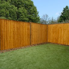 5ft High (1524mm) Mercia Vertical Feather Edge Flat Top Fence Panels