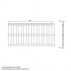 Mercia 3ft High (915mm) Mercia Closeboard Vertical Hit and Miss Fence Panels