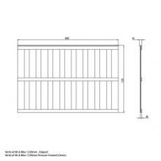 Mercia 4ft High (1220mm) Mercia Closeboard Vertical Hit and Miss Fence Panels