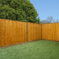 5ft High (1524mm) Mercia Closeboard Vertical Hit and Miss Fence Panels