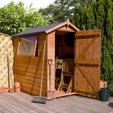 7 x 5 (2.23m x 1.65m) Mercia Premium Shiplap Shed with Single Door