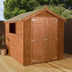 8 x 6 (2.51m x 1.97m) Mercia Premium Shiplap Shed with Double Doors
