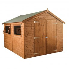 10 x 6 (3.12m x 1.96m) Mercia Premium Shiplap Shed with Double Doors - without background and doors