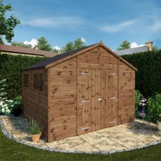 10 x 10 (3.11m x 3.18m) Mercia Premium Shiplap T&G Workshop