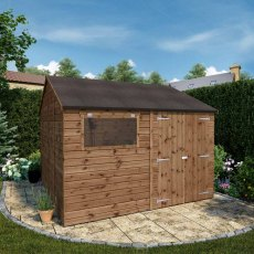10 x 10 (3.04m x 3.05m) Mercia Premium Shiplap T&G Workshop