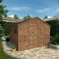 12 x 10 (3.65m x 3.18m) Mercia Premium Shiplap T&G Workshop