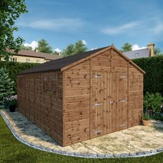 16 x 10 (4.84m x 3.18m) Mercia Premium Shiplap T&G Workshop - Pressure Treated