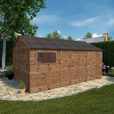 16 x 10 (4.80m x 3.05m) Mercia Premium Shiplap T&G Workshop