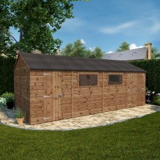 20x10 Mercia Premium Shiplap Workshop - Pressure Treated - floor plan