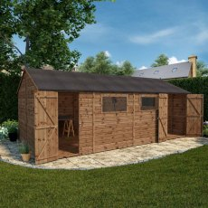 20 x 10 (6.02m x 3.05m) Mercia Shiplap T&G Premium Workshop