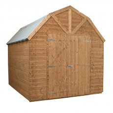 10 x 8 Mercia Dutch Barn Shed - Pressure Treated - without background and doors closed